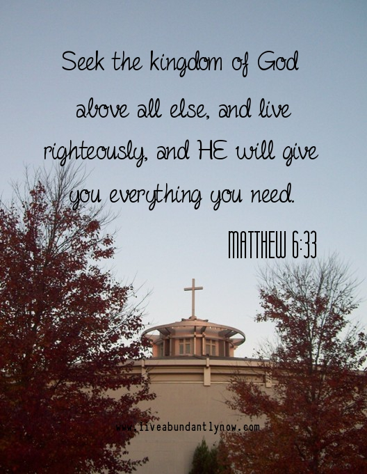 Seek the Kingdom of God